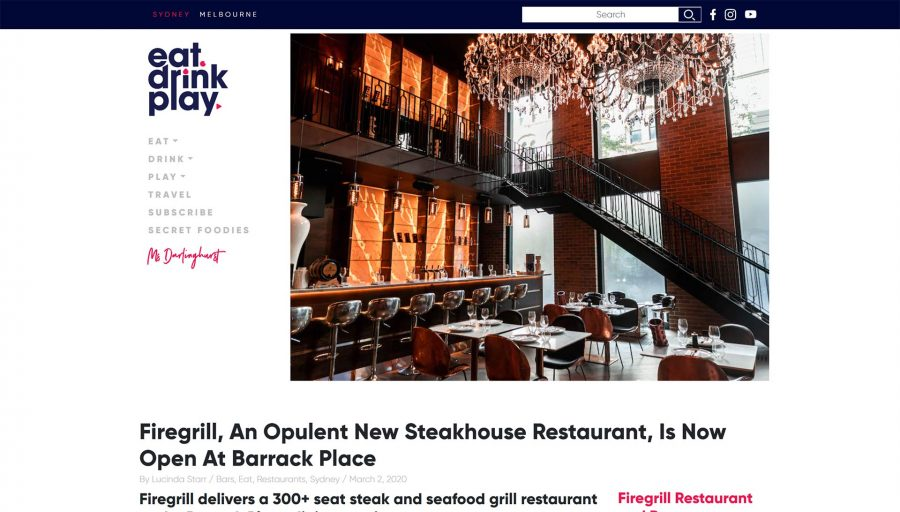 Firegrill, An Opulent New Steakhouse Restaurant, Is Now Open At Barrack Place