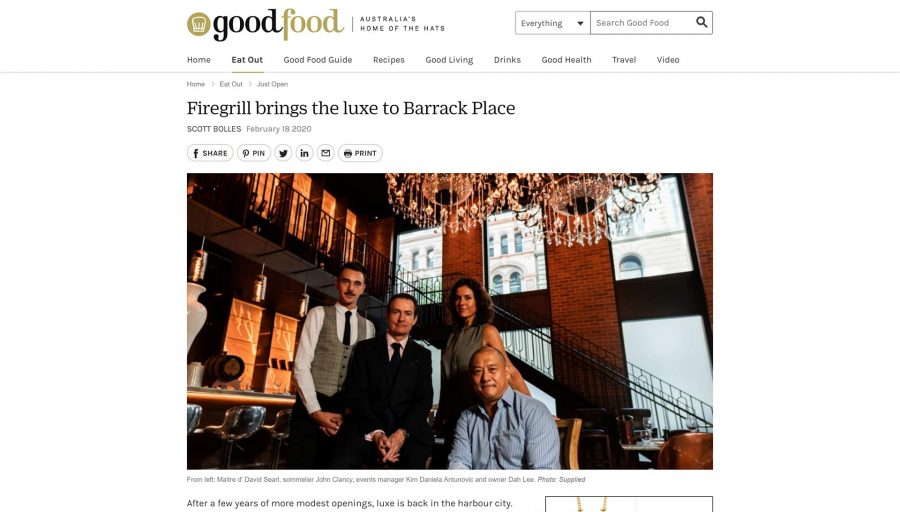 Firegrill brings the luxe to Barrack Place